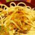 spaghetti fiori di zucca bottarga e burrata